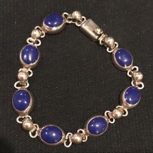 Jewelry - Sterling Silver Lapis Link Bracelet